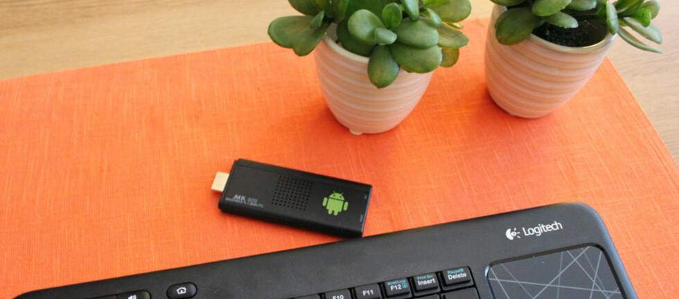 Denne mediepinnen er en liten datamaskin med enorme muligheter. Foto: Bjørn Eirik Loftås - som har tatt alle bildene i artikkelen