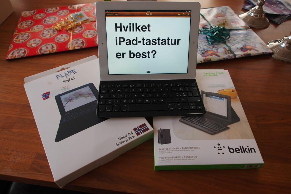 Vi har sammenlignet alternativene fra Belkin og Flare mot vår favoritt fra Logitech. Foto: Øyvind P