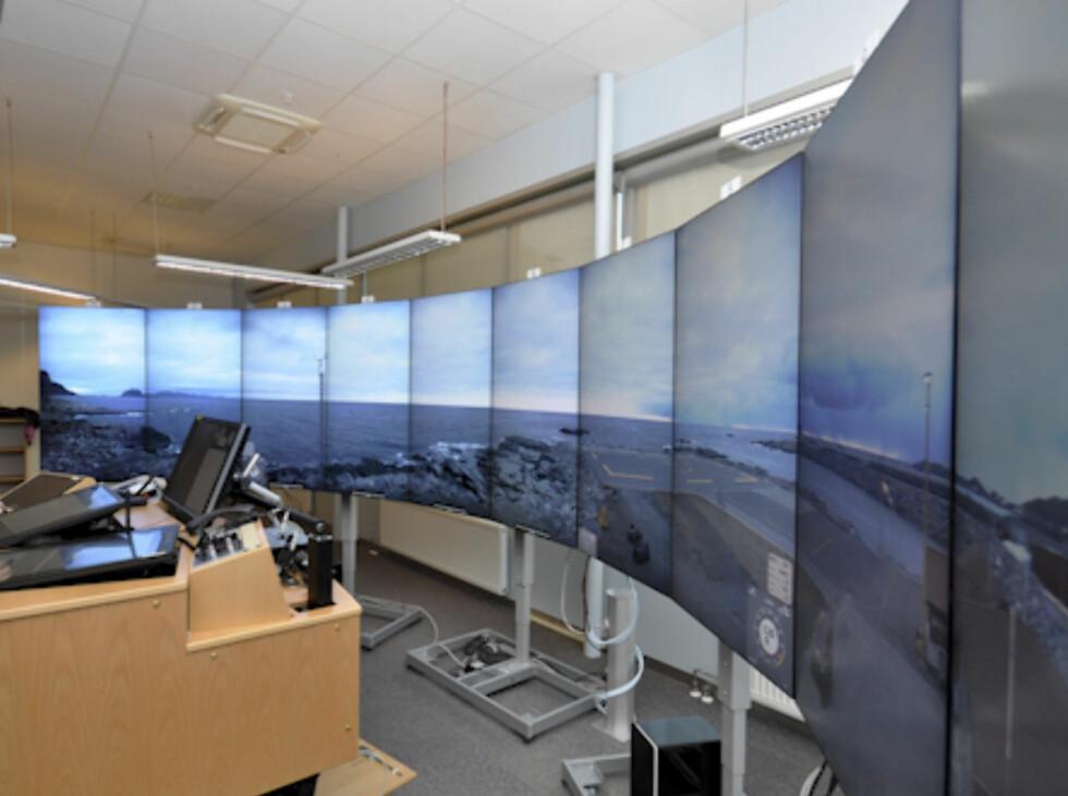 Utstyret gir 360 graders oversikt fra Værøy helikopterhavn  Foto: Avinor