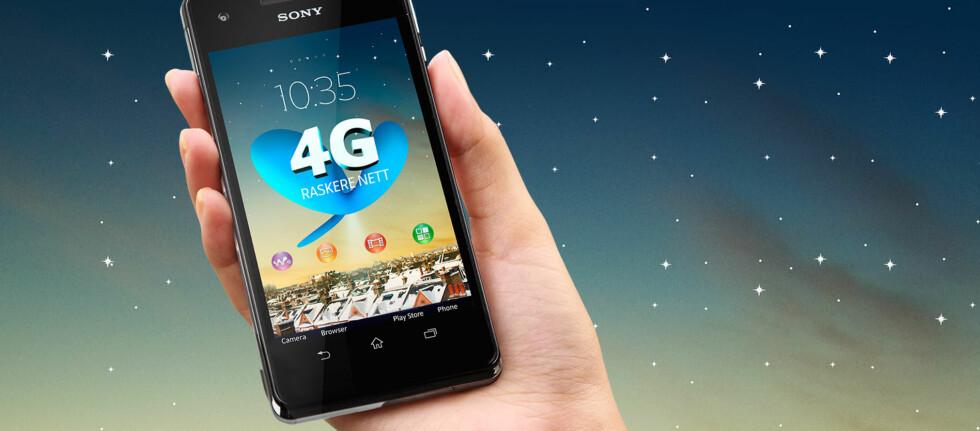 HAR DU DENNE? Sony Xperia V er én av telefonene som støtter Telenors nye 4G-nett. Foto: Telenor