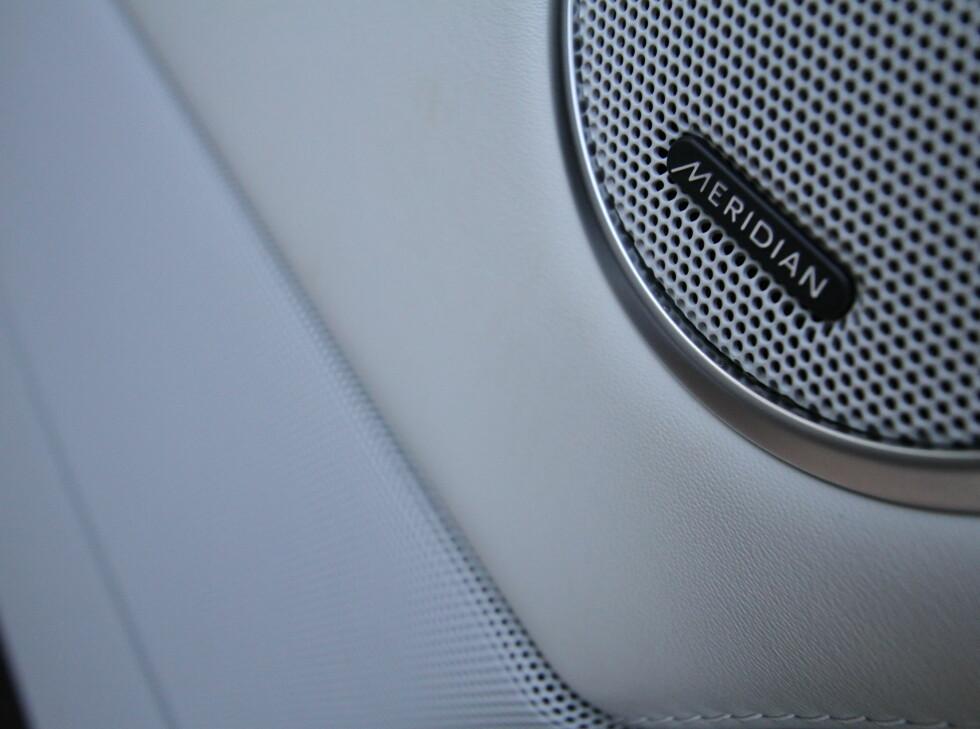 Det er Meridian som er leverandør av stereoanlegget i nye Range Rover. Foto: Fred Magne Skillebæk