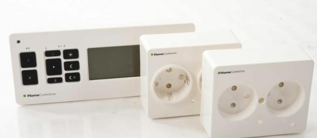 <B>MER ELLER MINDRE FULL KONTROLL:</B> Med Home Control kan du bruke eksisterende kontakter til å styre strømmen i hjemmet. Foto: Produsenten
