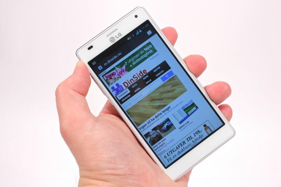 HAR UTSEENDET MEG SEG: LGs Optimus 4X HD er en smartmobil som, med ett unntak, er veldig, veldig bra. Foto: Øivind Idsø