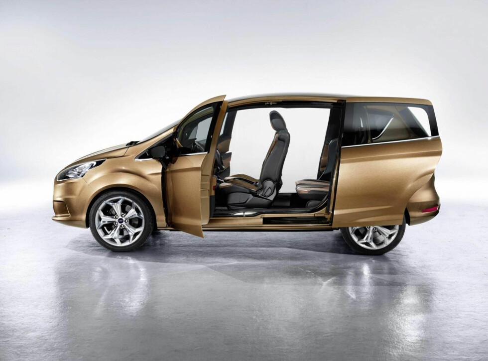 Ford B-Max er til nå mest kjent for å være bilen uten B-stolper.