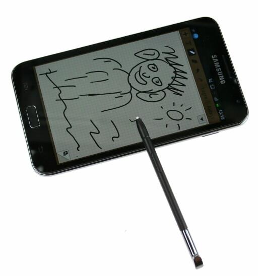 FIN? Med S Pen kan du tegne frihånd så mye du vil. Bedre enn dette kan neppe gjøres. Foto: Øivind Idsø