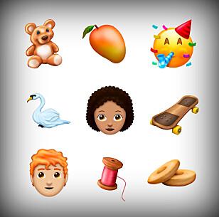 KAN KOMME NESTE ÅR: Her er et utvalg med emojier som kan komme i 2018. Foto: Emojipedia