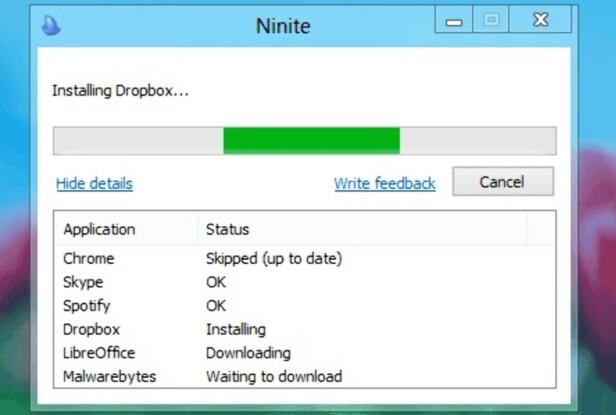 KJAPT OG TRYGT: Ninite sørger for å laste ned og installere favorittprogrammene dine automatisk. Skjermdump: Ninite.com