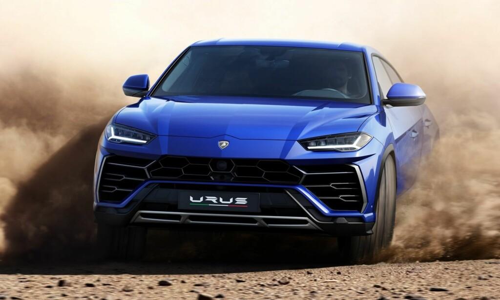DYREBAR: Til den nette pris av 200.000 dollar (1,68 millioner kroner, før de «snille» norske avgiftene) får du en 4,0-liters dobbelt-turbo V8-motor som leverer 650 hestekrefter, 0 til 100 km/t på 3,7 sekunder og en toppfart på over 300 km/t. Foto: Lamborghini