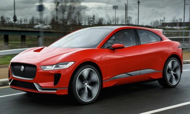 JAGUAR I-PACE: Jaguar er - relativt - tidlig med i konkurransen om elektriske SUV'er. Foto: Jaguar