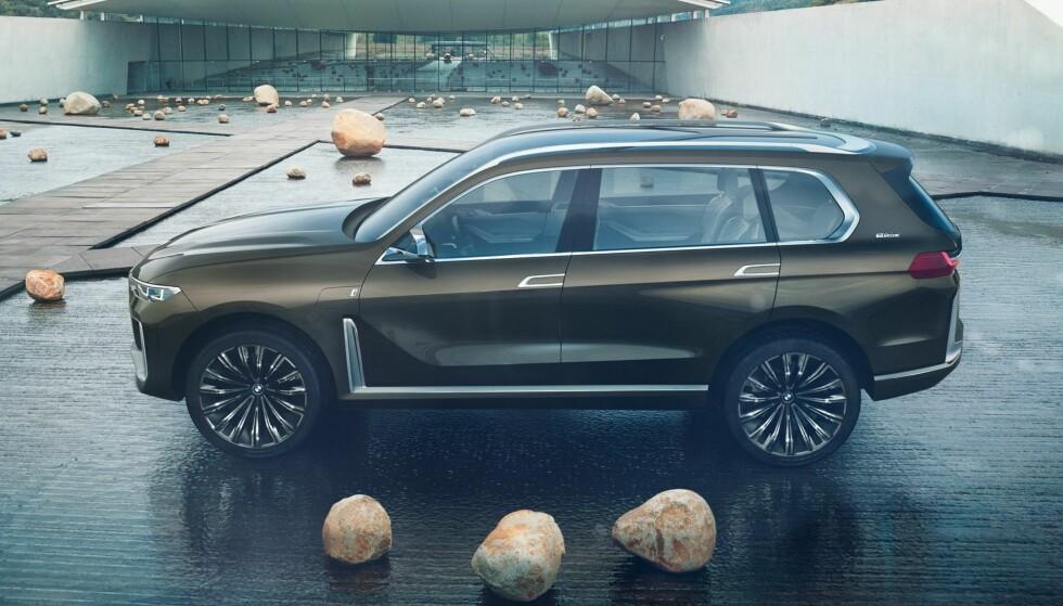 STØRST AV MANGE: BMW X7 blir det hittil siste og største tilskuddet av totalt sju SUV-er fra BMW. Foto: BMW