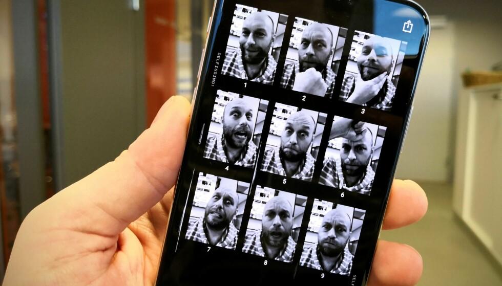 <strong>PHOTOSHOOT:</strong> Googles nye Selfissimo-app tar automatisk bilde av deg hver gang du poserer. Foto: Pål Joakim Pollen