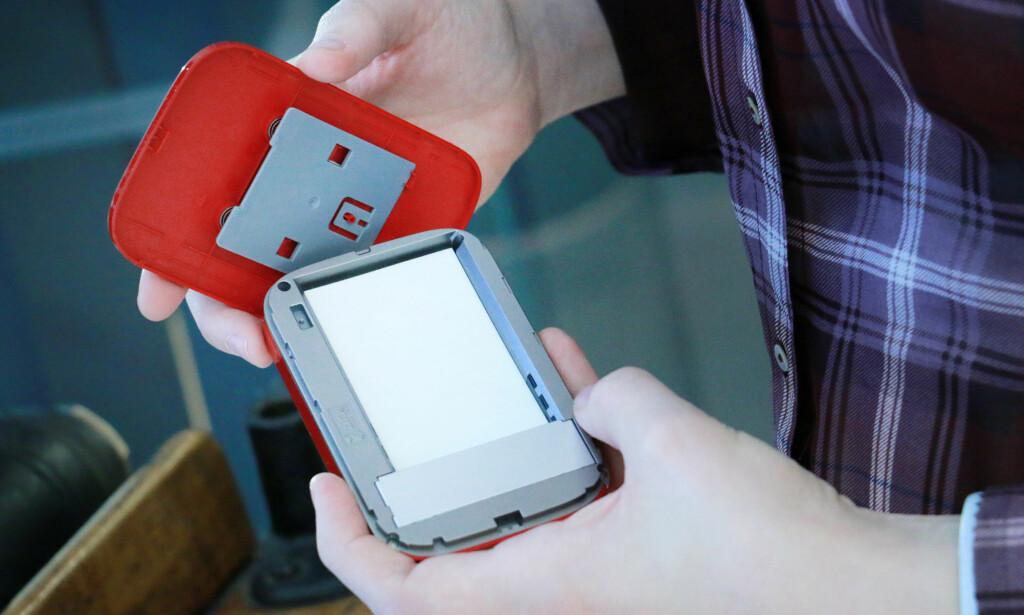 INGEN BLEKKPATRONER: HP-skriveren bruker et spesielt fotopapir hvor blekket er innebygd. Foto: Ole Petter Baugerød Stokke