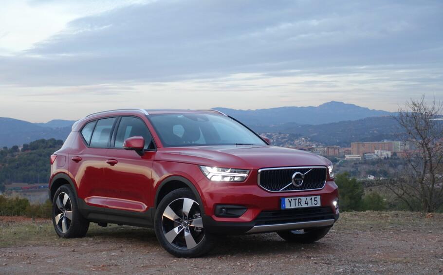 TESTET: Dinside har kjørt Volvo XC40 i Spania. Foto: Fred Magne Skillebæk