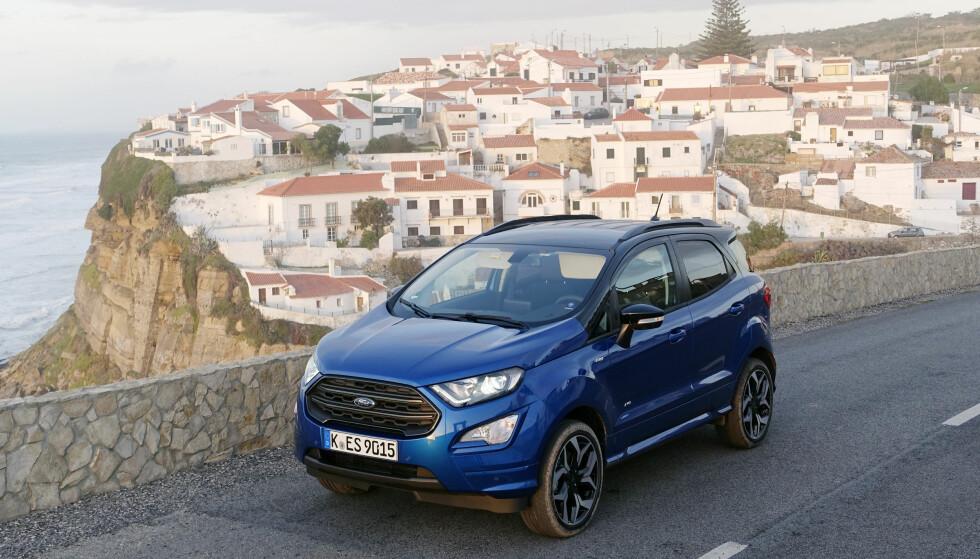 MER LIKHET: Panser, front, bakluke og bakanger er nytt for å få EcoSport mer lik resten av Ford-sortimentet. Foto: Rune M. Nesheim