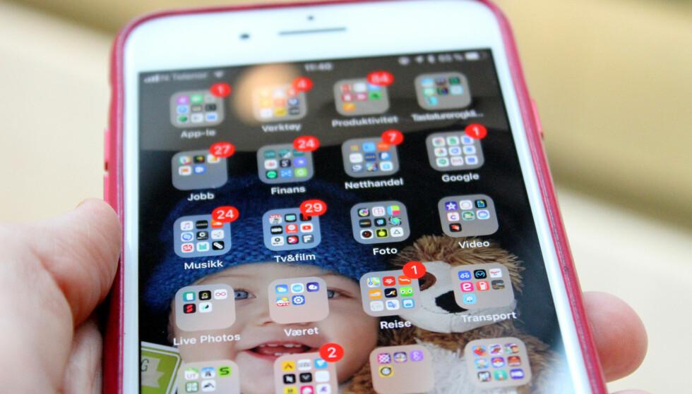 APPORAMA: Så mange apper, så liten tid. Vi har prøvd mange av dem, så du slipper. Her er noen av favorittene! Foto: Kirsti Østvang