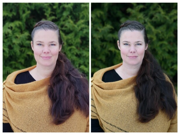 SPEILREFLEKS-AKTIG: Ett av disse to bildene er tatt med et speilreflekskamera, mens det andre er tatt med portrettmodus på mobiltelefonen. Kan du gjette hvilket som er tatt med hva? Foto: Pål Joakim Pollenuoɟǝlǝʇlᴉqoɯ pǝɯ ʇʇɐʇ ɹǝ ǝɹʇsuǝʌ lᴉʇ ʇǝp :ɹɐʌs