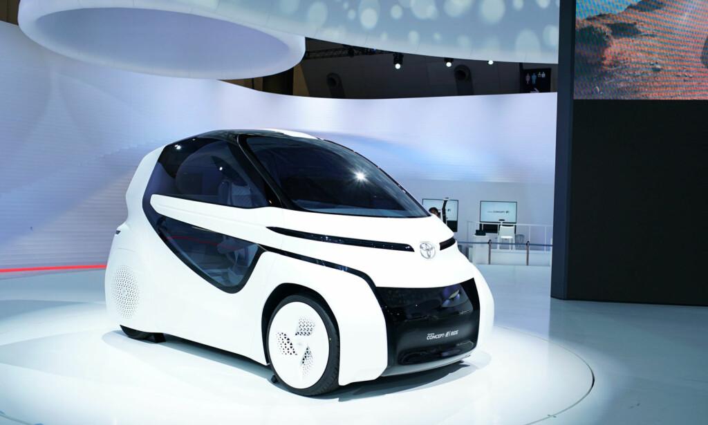 ELEKTRISK TOYOTA: Toyota har lenge tviholdt på hydrogen framfor batteri i elektriske biler. Om to-tre år komme Toyota med elbiler på rekke og rad. Foto: Rune Korsvoll
