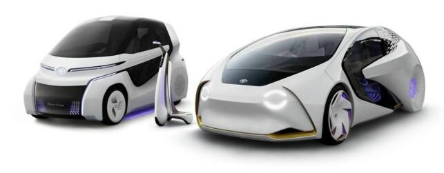EL-TRIO: Trillingene i Concept-i trilogien, Toyotas visjon i forkant av elbil-satsingen. Foto: Toyota