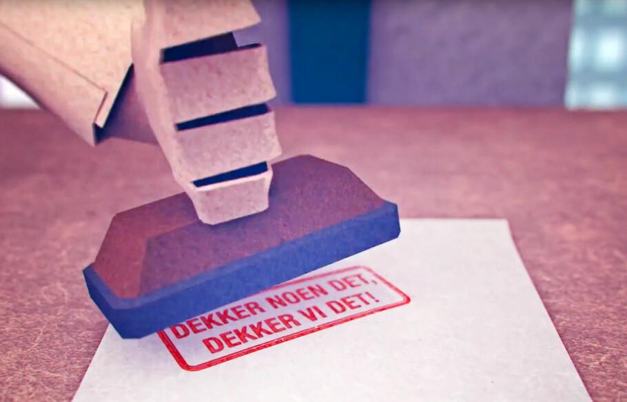 DEKNINGSGARANTI: DNB skryter av at om andre dekker noe, dekker de det. Men DNB vil bare forholde seg til vilkår, ikke vurderinger. Derfor kan du oppleve at et selskap dekker noe DNB ikke gjør, selv om du viser til garantien. Skjermdump: DNB-reklame