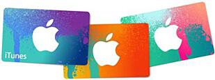 OGSÅ PÅ E-POST: iTunes-gavekortene kan både kjøpes i vanlig butikk og bestilles med kode på nett. Foto: APPLE