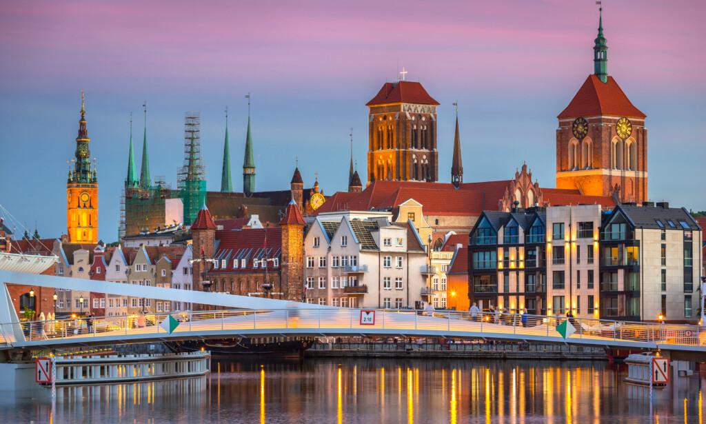 FERIE FOR TO TIL 720 KRONER: Om du vil se vakre Gdansk i vinterskrud sammen med din kjære, er det nesten gratis i januar. Foto: Shutterstock/NTB scanpix