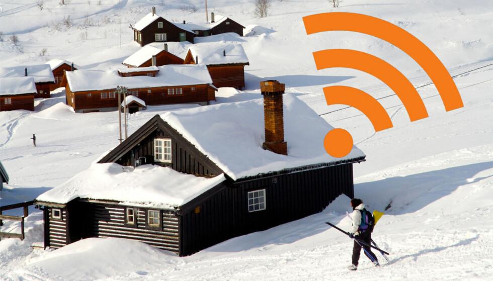 GODT ALTERNATIV: På hytta, eller på steder med dårlig tilgang på fiber og den slags, kan 4G-basert mobilt bredbånd være et godt alternativ. Foto: ALL OVER PRESS