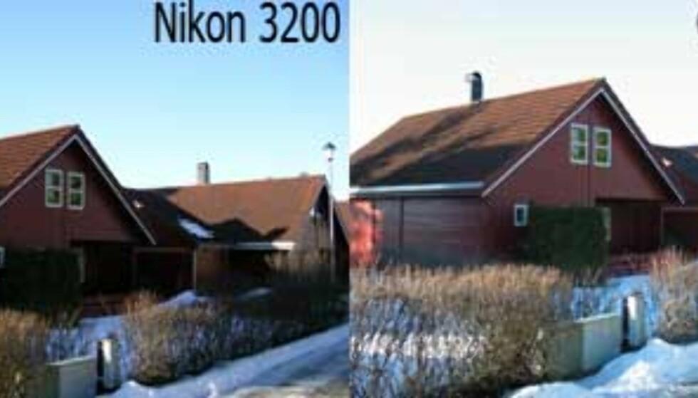 Her er lysforholdene vrient for den automatiske eksponeringen. Resultatet blir ofte en overeksponert bakgrunn. Men Nikon Coolpix 3200 eksponerte meget bra her.