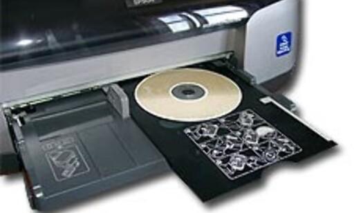 Ved hjelp av et par adaptere kan du skrive ut direkte på CDR-plater