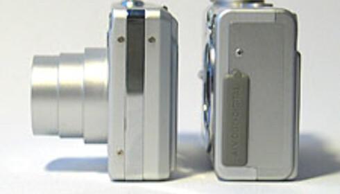 Exilim EX-Z4 er betydelig tynnere enn Canon Digital Ixus 400.