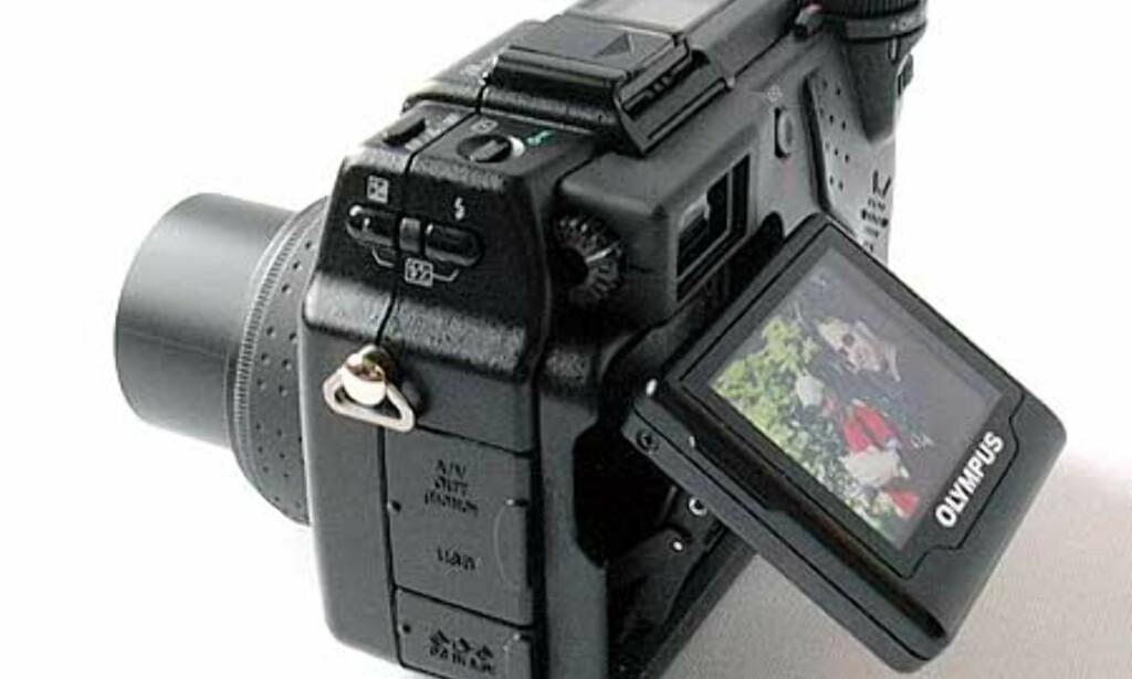 Den spesielle utvippbare skjermen er meget nyttig, for eksempel når du skal ta bilder langs bakken.