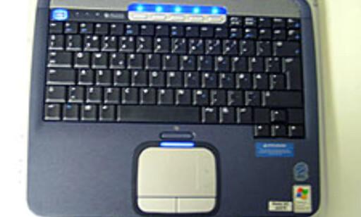 En fordel med store PCer er at det er bedre plass til tastaturet. Dette har store taster og er behagelig å skrive på.