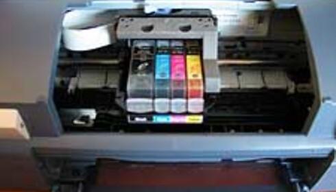 Her er beviset - det er bare fire blekkfarger i i850.
