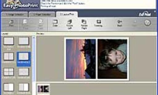 Easy Photoprint er et av programmene som følger med. Det jobber direkte med driveren, og gjør det enkelt å skrive ut fotografier, f. eks uten marger.