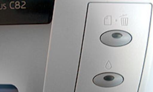 Den nye avbryt-knappen i fronten er en velkommen nyhet. Tidligere har vi kun sett tilsvarende løsning på skrivere fra HP.