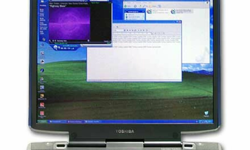 1600x1200-oppløsning gir plass til mange vinduer samtidig på skrivebordet. Noen vil nok synes at bokstaver og tegn blir litt for små.