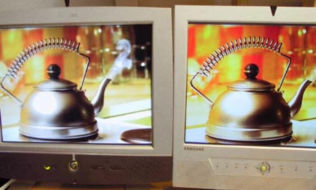 image: Samsung LCD skjerm med TV/video.