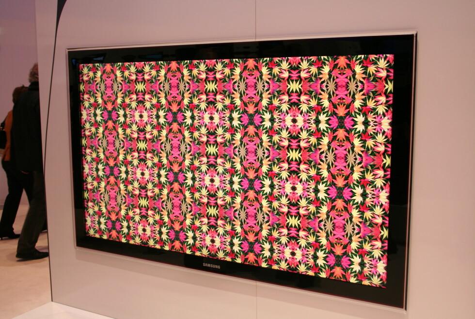 Samsung 82-tommer store LED-TV.  Foto: Øyvind P