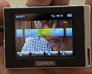image: TEST: Cowon D2 med Mini-TV