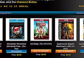 Bytt inn HD DVD i Blu-ray-filmer
