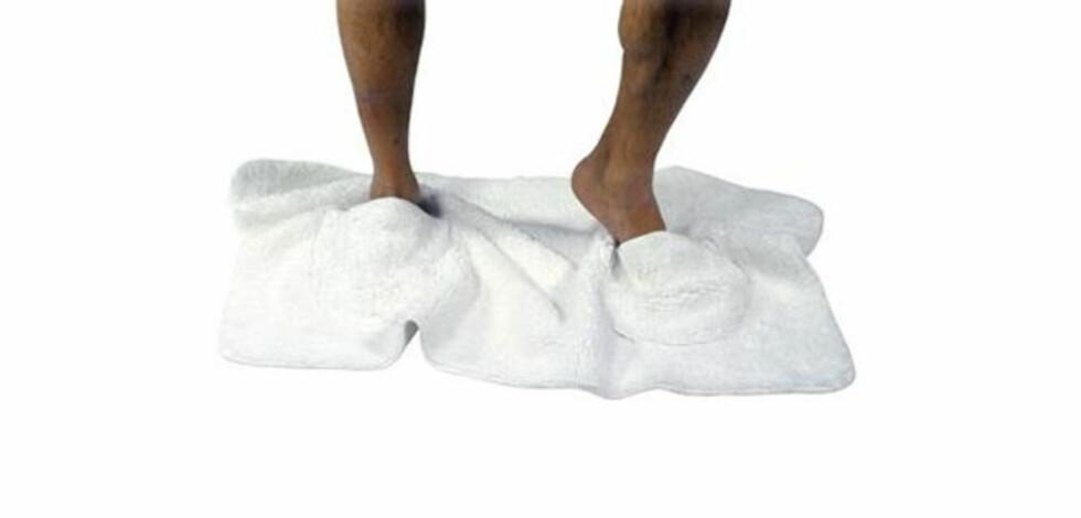Håndkle med slippers