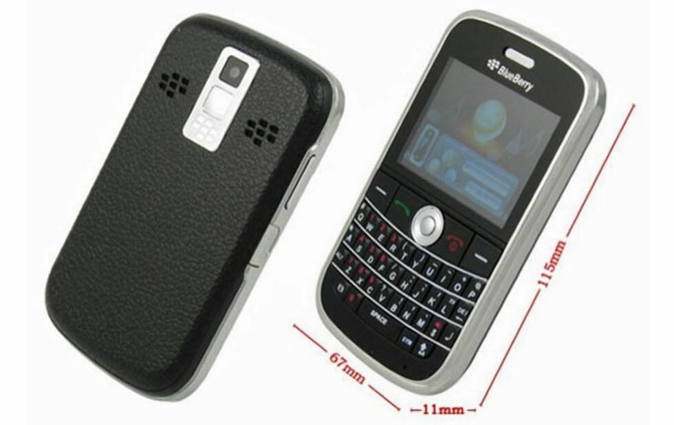 BlackBerry i liksomdrakt