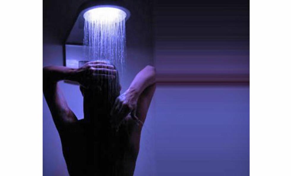 Bli dusjet med farger