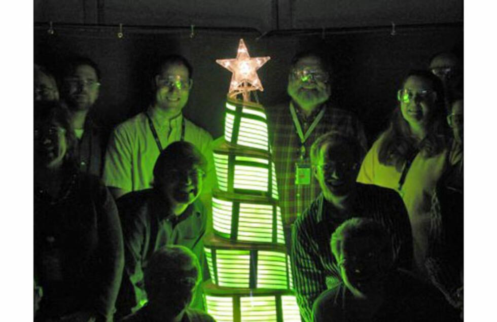 Verdens første OLED-juletre