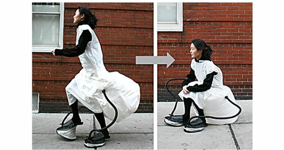 Oppblåsbar kjole