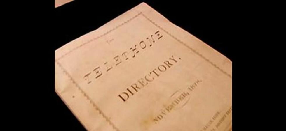 Verdens eldste telefonkatalog