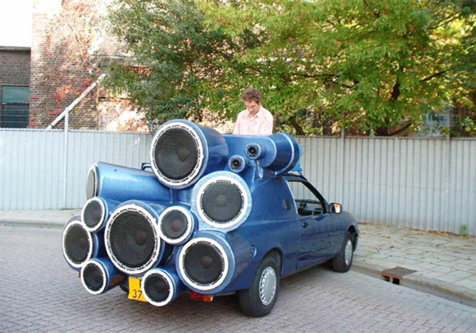 DJ-bilen er svært høylytt