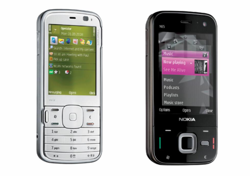 Nokia N85 og N79 er litt som før