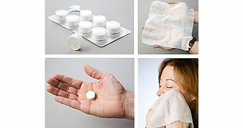 Håndkle i pilleformat