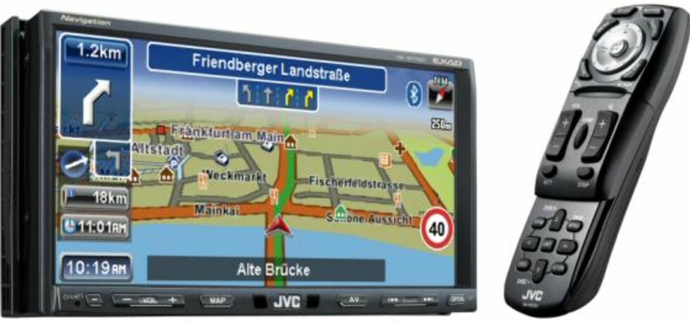 7-tommers GPS fra JVC