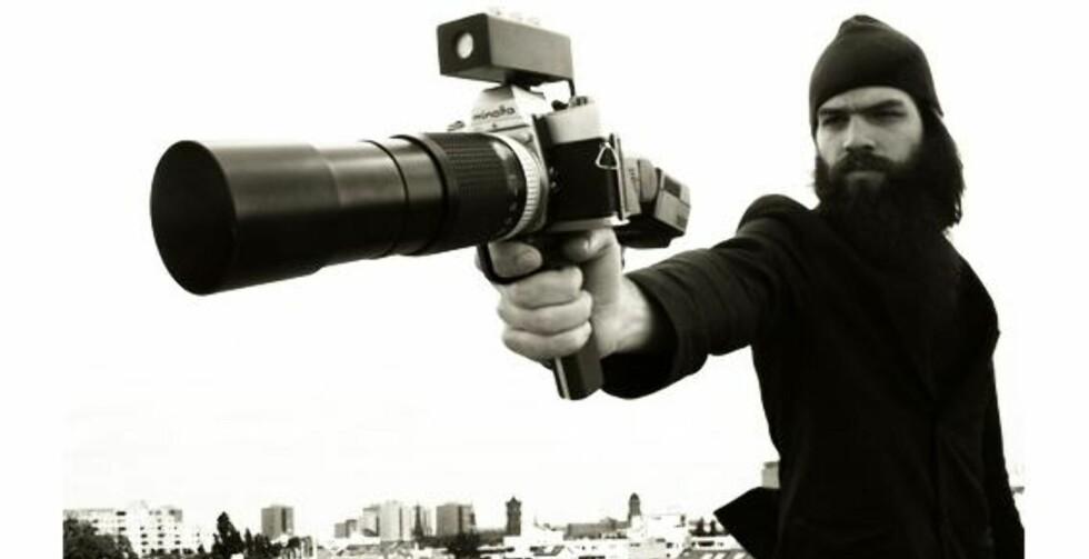 Plagånd med pistolkamera